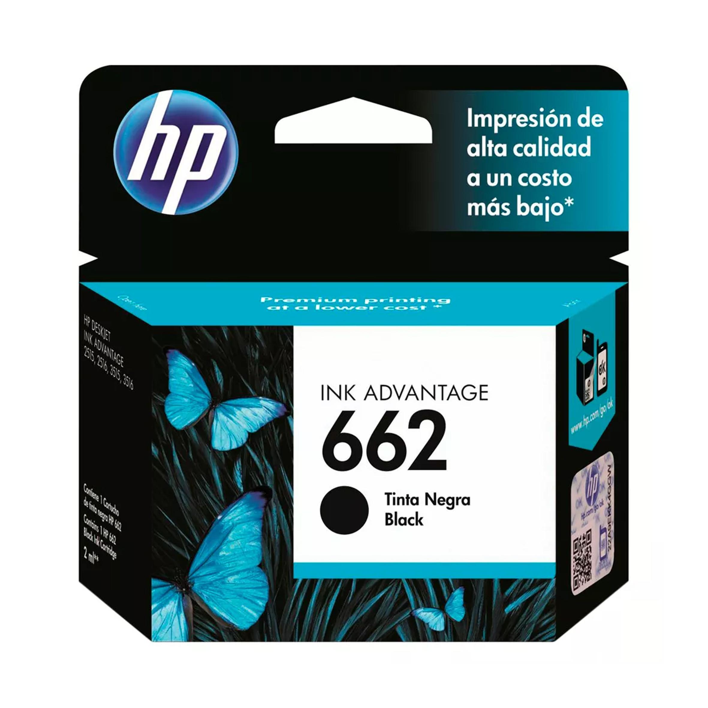 CARTUCHO HP # 662 NEGRO