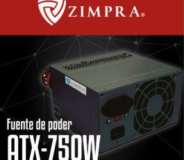 FUENTE PODER ZIMPRA ATX-750W 8CM